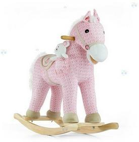 Milly Mally Pony Pink koń na biegunach różowy