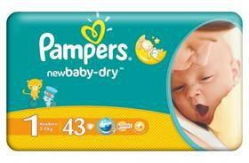 Pampers New Baby-Dry 1 Newborn 43 szt.