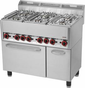 RedFox Kuchnia gazowa z elektrycznym piekarnikiem KSPT - 99 GE 00000541