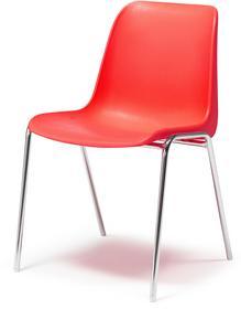 AJ Czerwone krzesło plastikowe. 10674