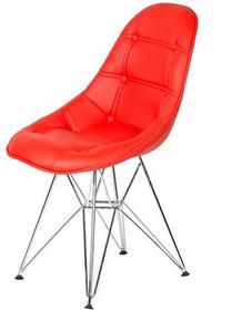 King Bath Krzesło Eames EPC DSR ekoskóra czerwone LI-KK-132PU.M.CZERWONY