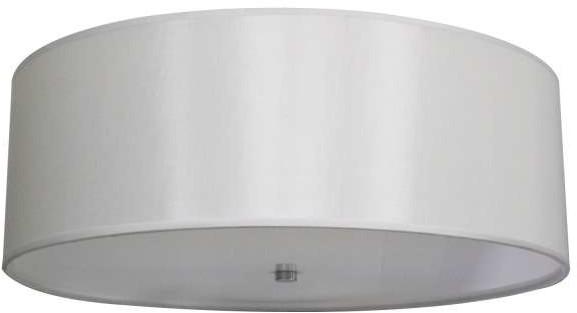 Light Prestige Abażurowa LAMPA sufitowa GIRONA LP-2190/5C-70 WH okrągła OPRAWA plafon biały