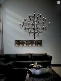 Lampy inspirowane Lampa wisząca Gino 100 cm Nikiel , czarna GSF-S2