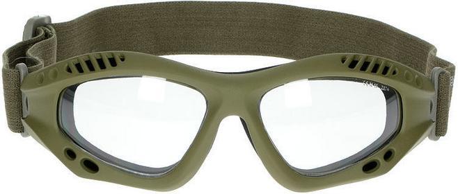 Mil-Tec Gogle Ochronne Commando Clear Oliv