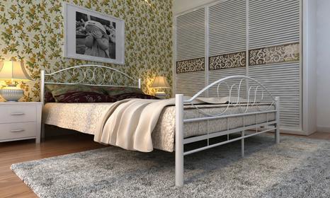 vidaXL Metalowe łóżko 140 x 200 cm