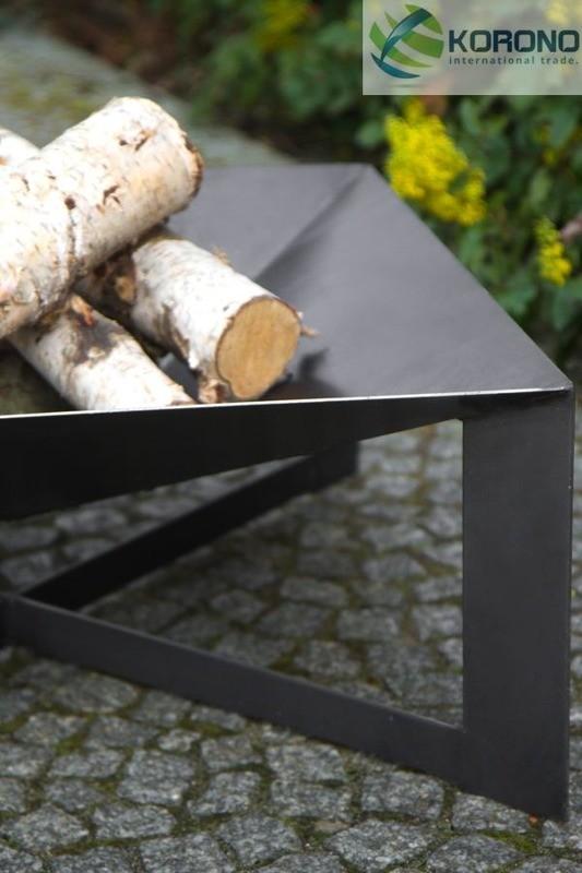 Korono Palenisko ogrodowe ze stali czarnej 70x70 cm (KOR330)