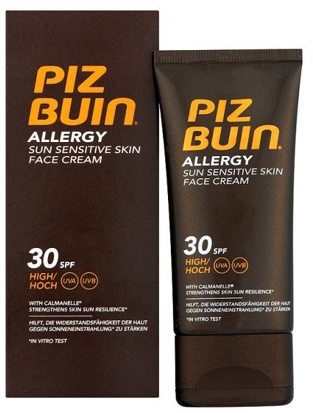 Piz Buin Allergy Face Cream Krem do twarzy SPF30+ Sun Sensitive Skin Face Cream 50ml