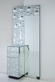 Kare Design 70001, Komoda Mirror Disco Fever 1 Door 2 Drw