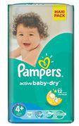 Pampers Active Baby-Dry 4+ Maxi Plus 53 szt.