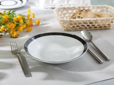Altom Talerz głęboki porcelana Czarno-Białe Kółka 20 cm dekoracja A