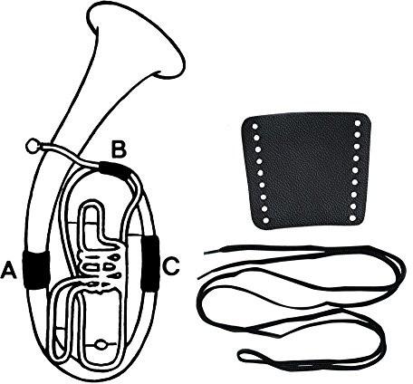 Gewa Krem do rąk ochronne skórzane, część Tenor Horn, B, zapięcie na sznurowane sznurek 720590