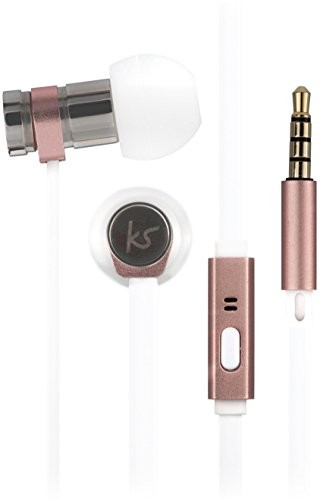 KitSound Nova słuchawki douszne z mikrofonem różowe złoto KSNOVRG