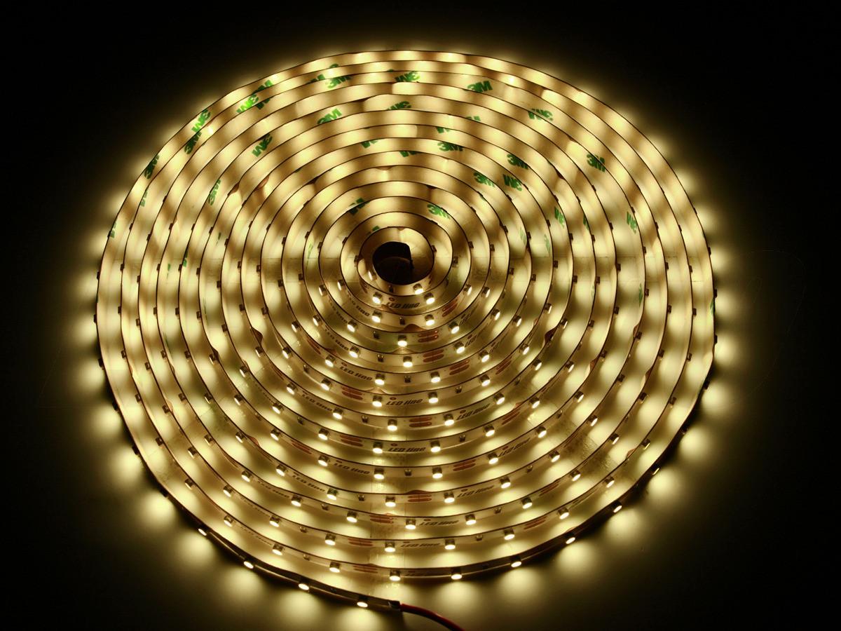 LED Line Taśma 300 SMD 3528 biała ciepła w powłoce silikonowej IP65 2402 (240249)