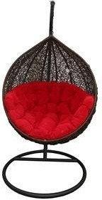 Miloo :: Fotel wiszący Cocoon czarno-czerwony - Miloo :: Fotel wiszący Cocoon cz