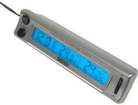 Carpoint Termometr cyfrowy In-Out - z zegarem