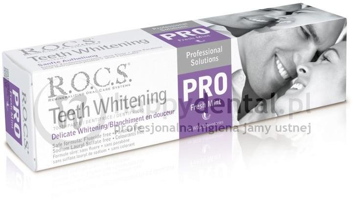 R.O.C.S. ROCS PRO pasta Fresh-MINT 100ml (fioletowa) - delikatnie wybielająca pa