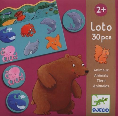 DJECO Gra Edukacyjna Lotto Zwierzęta