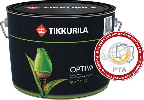 Tikkurila Farba lateksowa Optiva 5L Matt 9l - Farba lateksowa Optiva 5
