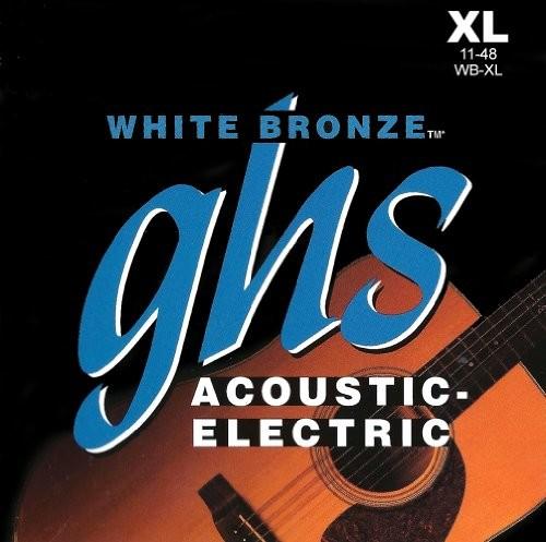 ghs GHS 52WB XL z brązu Alloy String Extra Light Biały WBXL