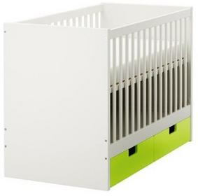 Dziecięce łóżeczko z szufladami zielonymi 60x120cm ST 799.284.50