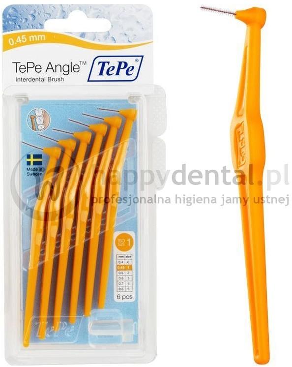 TePe ID Angle (0.45mm) pomara. 6szt. - zestaw szczoteczek międzyzębowych (szczot