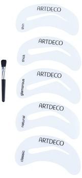 Artdeco Eye Brow Stencil pędzelek do brwi z szablonami 5 Stencils