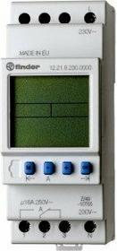 Finder Programator tygodniowy elektroniczny 1CO 16A 230V AC 12-21-8-230-0000