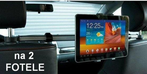 Extreme Style Uchwyt Samochodowy na dwa ZAGŁÓWKI do Tabletów LENOVO YOGA B8000 S