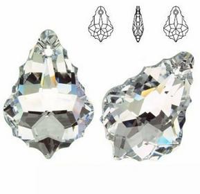 (6090) Zawieszka BAROQUE kropla 28mm Crystal