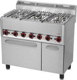 RedFox Kuchnia gazowa z elektrycznym piekarnikiem KSPT - 99/5 GE 00000540