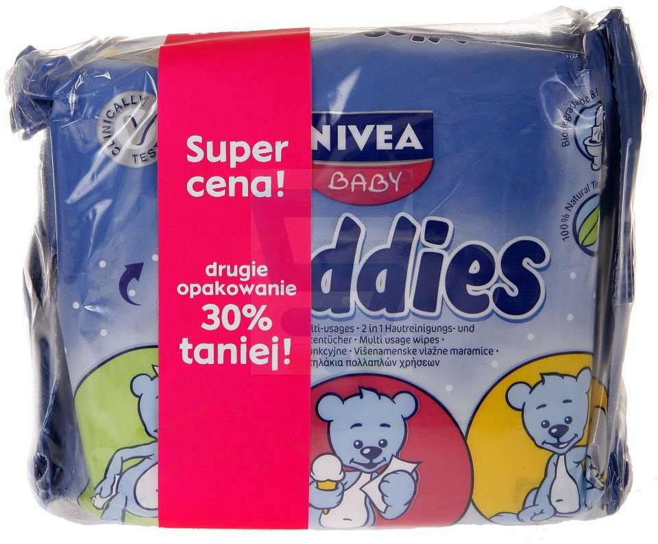 Opinie o Nivea Baby Chusteczki duo toddies zapas 2 x 60 szt.