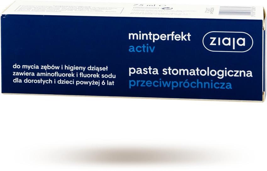 Ziaja mintperfekt activ - pasta do zębów, przeciwpróchnicza 75 ml