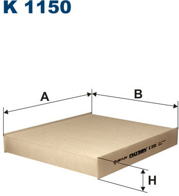 FILTRON Filtr kabinowy K1150