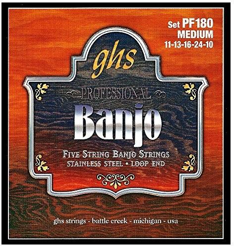 ghs GHS PF 180Medium Banjo Stainless Steel (5-String) PF180