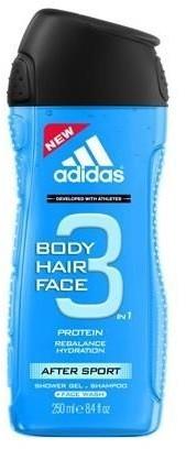 Adidas 3in1 After Sport 250ml M Żel pod prysznic 31758