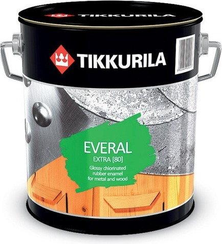 Tikkurila Emaila chlorokauczukowa Everal 80 Extra 2.7L - Emalia chlorokauczukowa