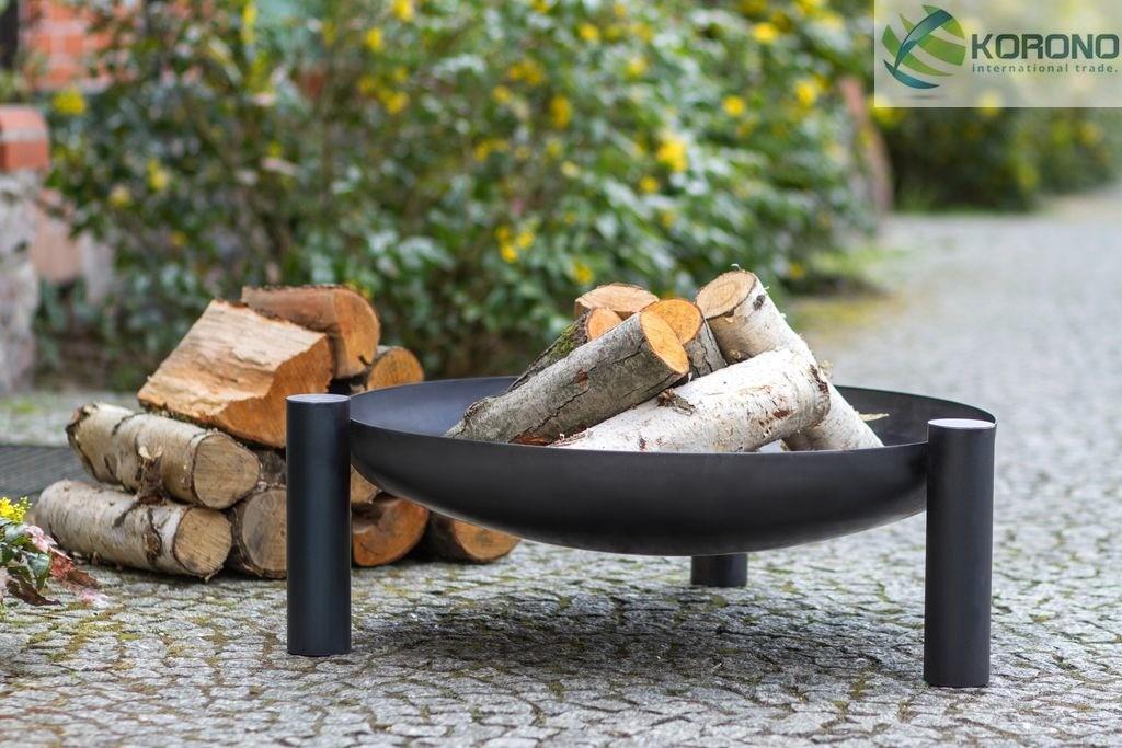 Korono Palenisko ogrodowe ze stali czarnej bez pokrywy średnica 60 cm (KOR315)