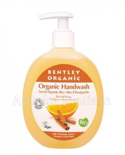 Bentley Organic Odżywiające mydło w płynie z cynamonem słodką pomarańczą i goździkami 250 ml