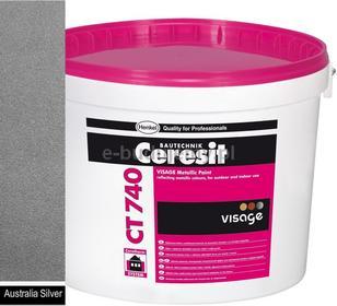 Ceresit CT 740 VISAGE Farba ozdobna Metallic 4L - Australia silver