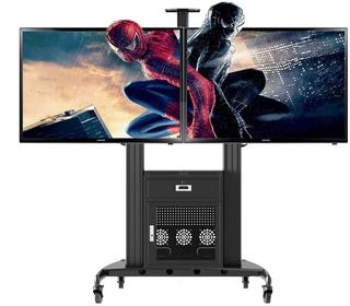 Fiber Novelty NB AVG1800-60-2A - ekskluzywny mobilny stojak z szafą G200, wieszak TV, wózek do TV, LCD LED Plazma, na dwa telewizory 40-60 AVG1800-60-2A