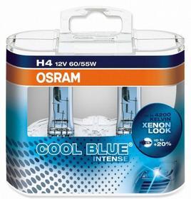 OSRAM H4 12V 60/55W P43t COOL BLUER Intense