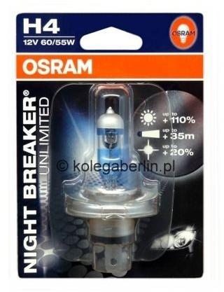 OSRAM H4 60/55W 12V night braker 1szt blister