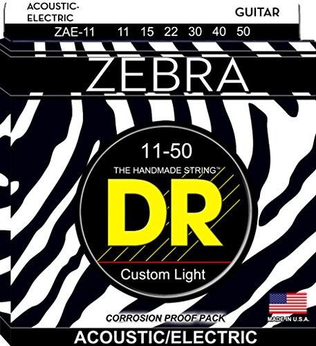 DR A Zebr zae-11Zebra gitary Medium-Lite DR A ZEBR ZAE-11