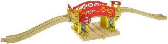 Most zwodzony do kolejek drewnianych