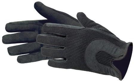 Pfiff rękawiczki do jazdy konnej ze sztucznej skóry, czarny, M 011467-60-M
