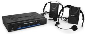 QTX 171.818 mikrofony bezprzewod. VHF 2 kanaly 2 x headset UK-171.818