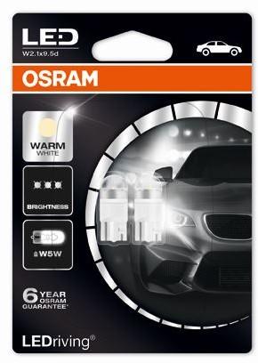 OSRAM (W5W)** Warm White 4000K 12V 1W W2.1x9.5d