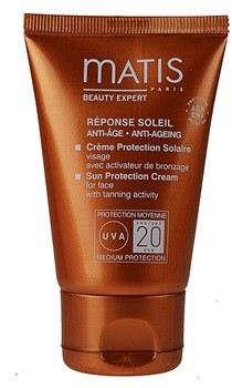 Matis Paris Réponse Soleil krem do opalania do twarzy SPF20+ Sun Protection Cream for Face with Tanning Activity 50ml