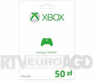Microsoft Doładowanie Xbox Live 50 PLN