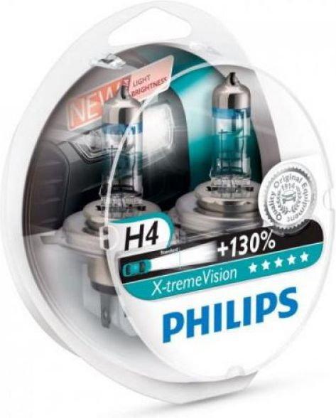 PHILIPS Żarówki X-treme Vision Plus 130% H4 12V 60/55W (2 szt.)